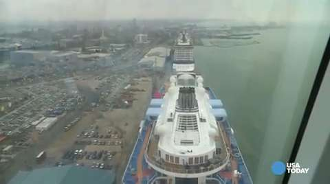 Quantum of the Seas ride gives 360-degree sea view