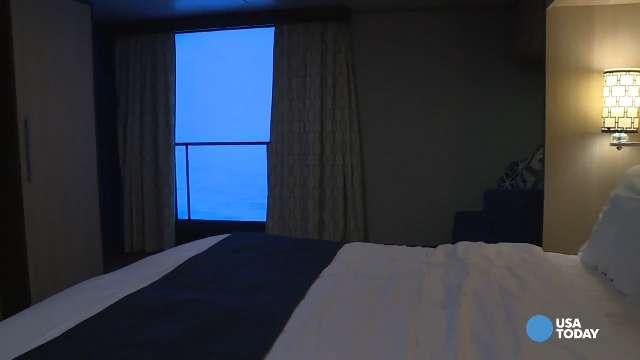 Virtual balconies bring ocean views to interior state rooms