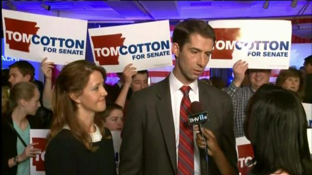 Cotton plans to get straight to work after winning Arkansas