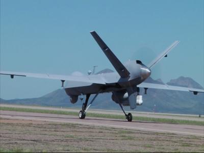 US drones patrol half of Mexico border