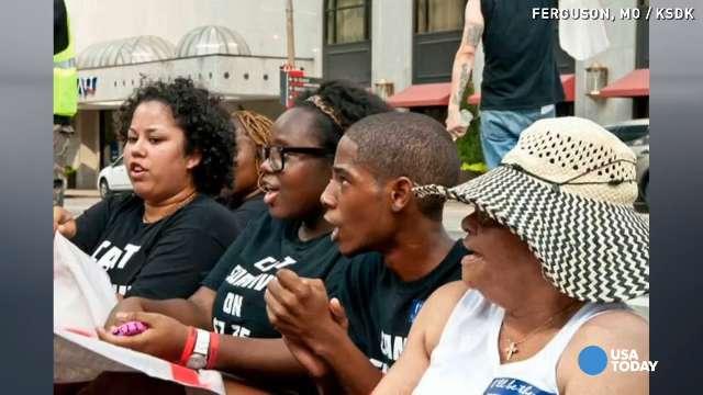 Young Ferguson activist meets President Obama