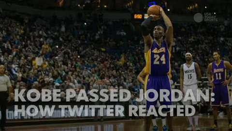 49564be79b7 Kobe Bryant passes Michael Jordan for third in points