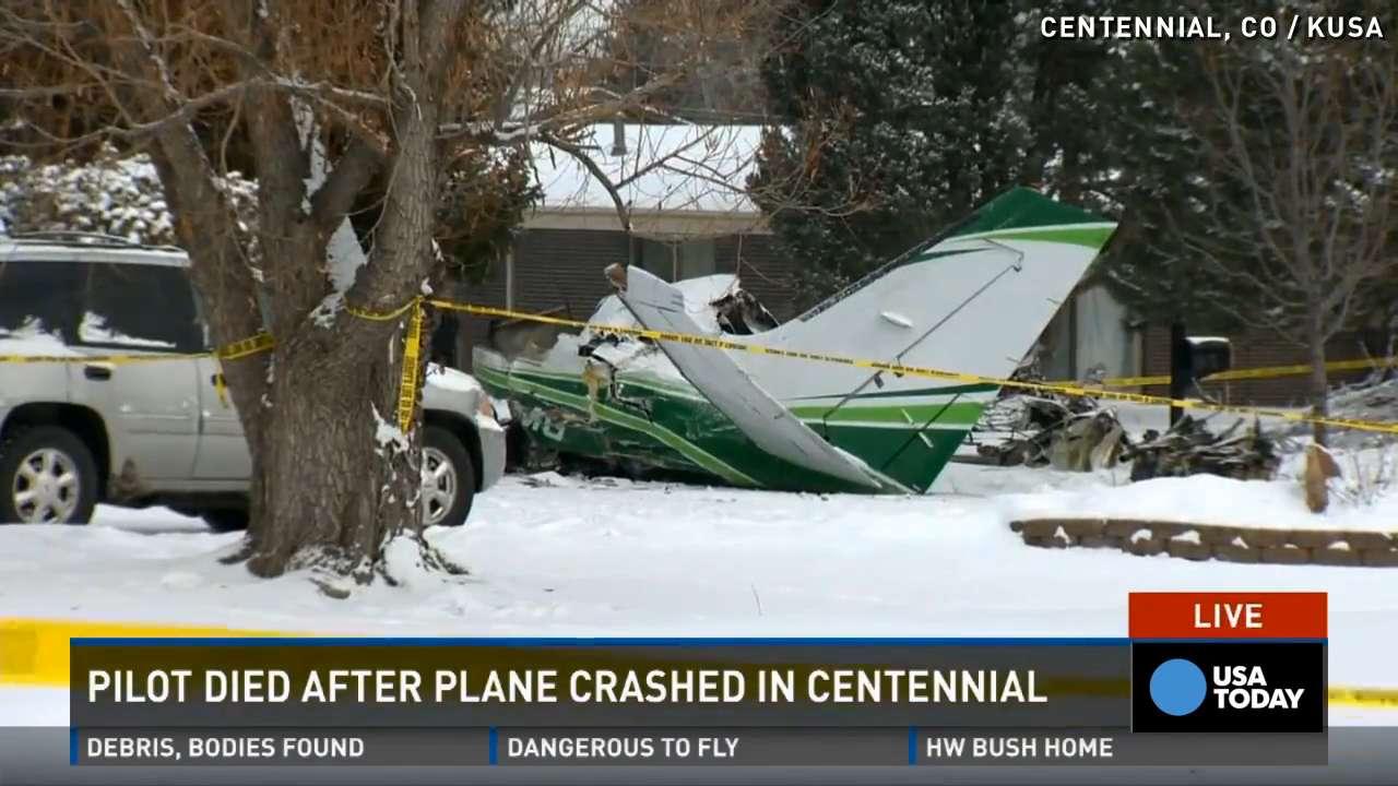 Pilot killed after plane crashes near Colorado home