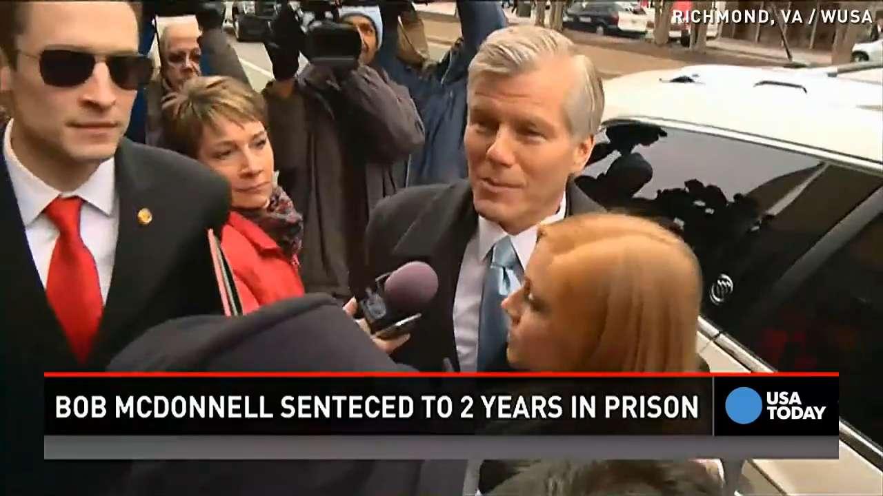 Ex-Va. gov McDonnell sentenced to 2 years in prison