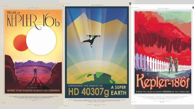 NASA creates retro travel posters for distant Exoplanets