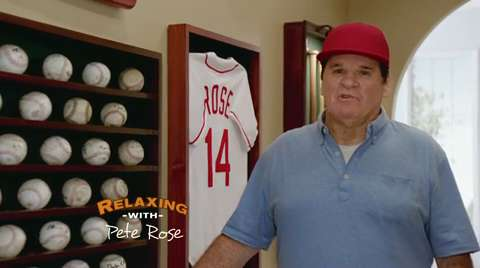 Skechers: 'Relaxing with Pete Rose'
