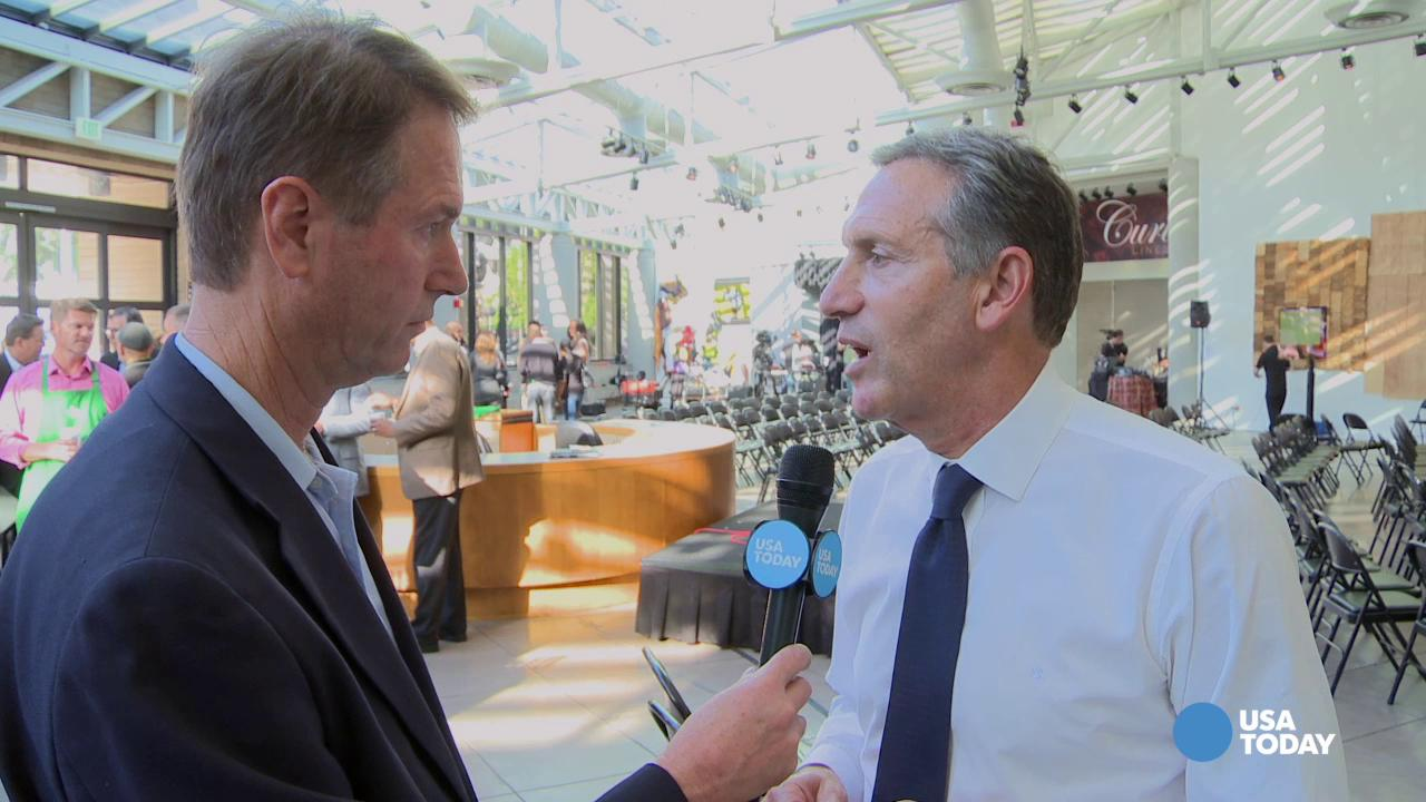 Starbucks CEO says promoting social good is also good business