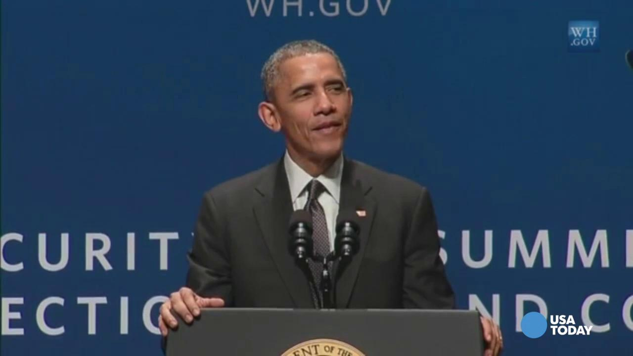 Obama jokes about some of his old passwords