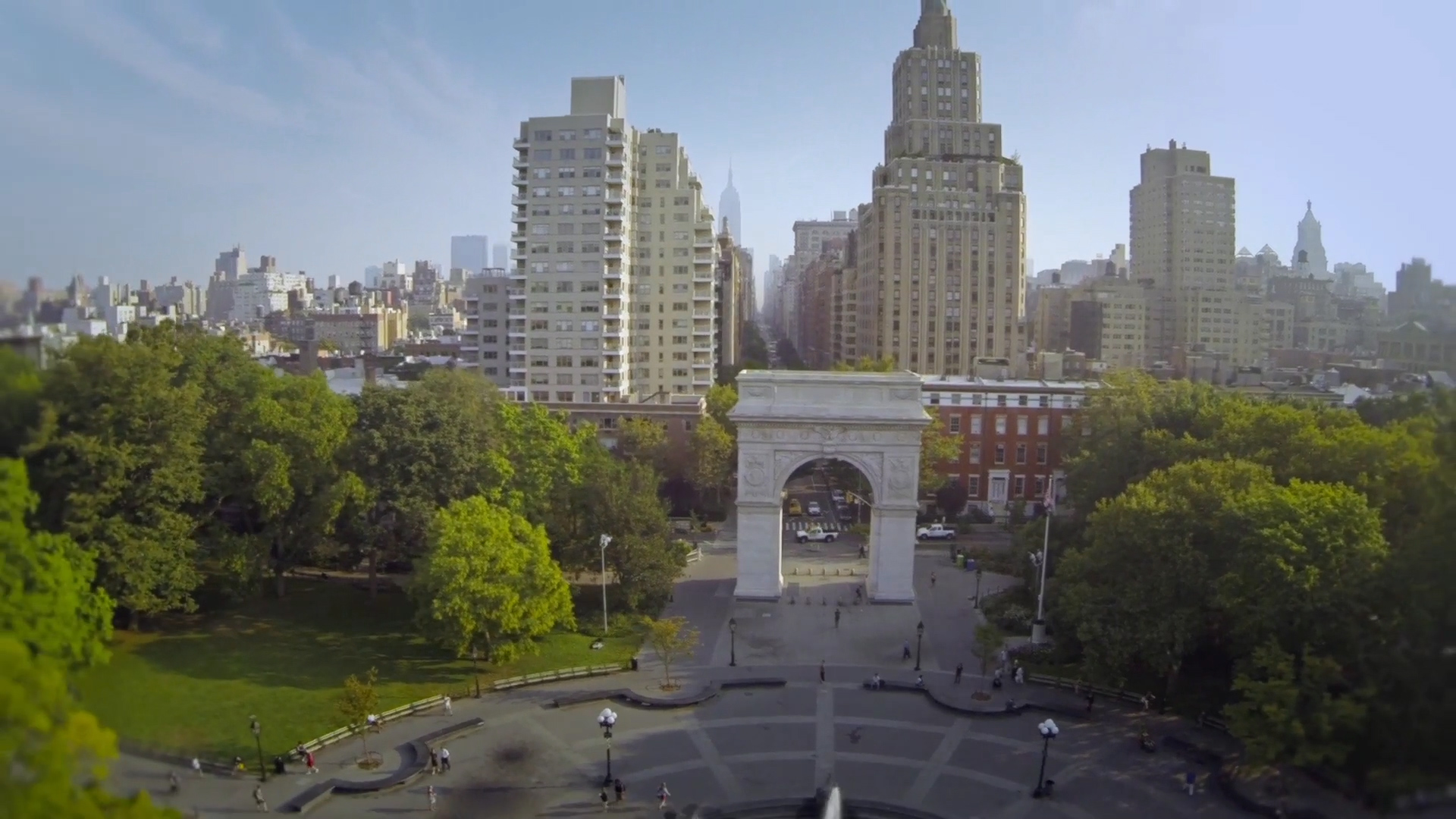 Extreme Drone Shot Footage On Display In NYC