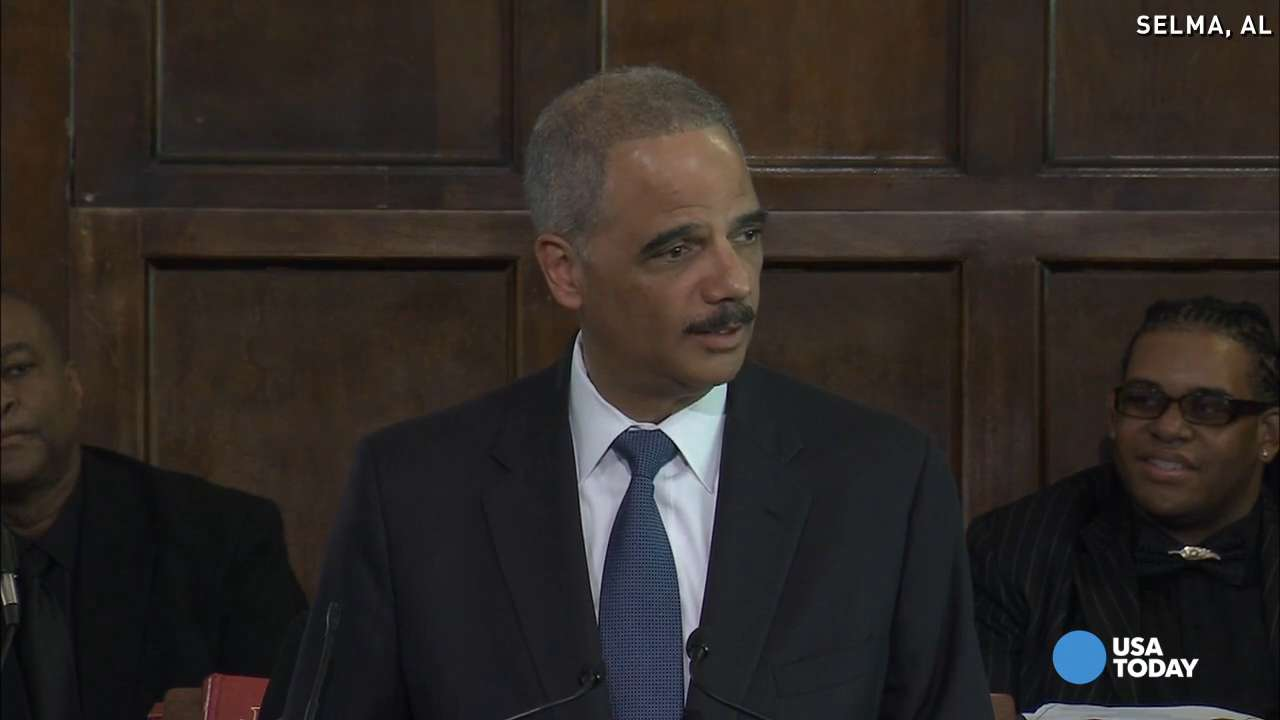 Eric Holder in Selma: 'We will march on'