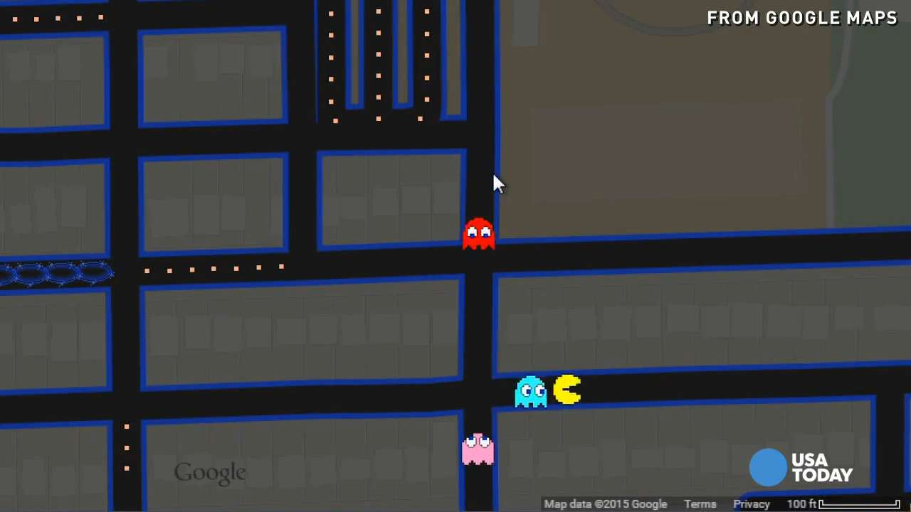 . here's how to play pacman on google maps