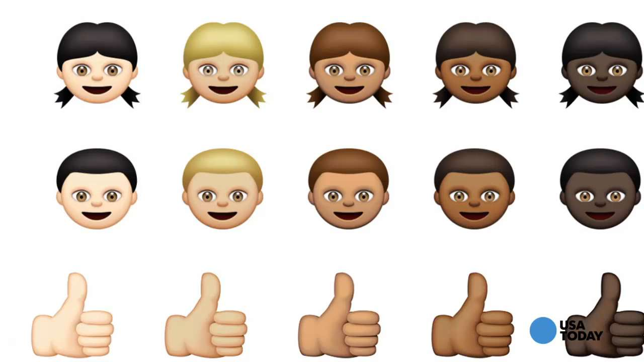 Check out the new racially diverse emojis ;)