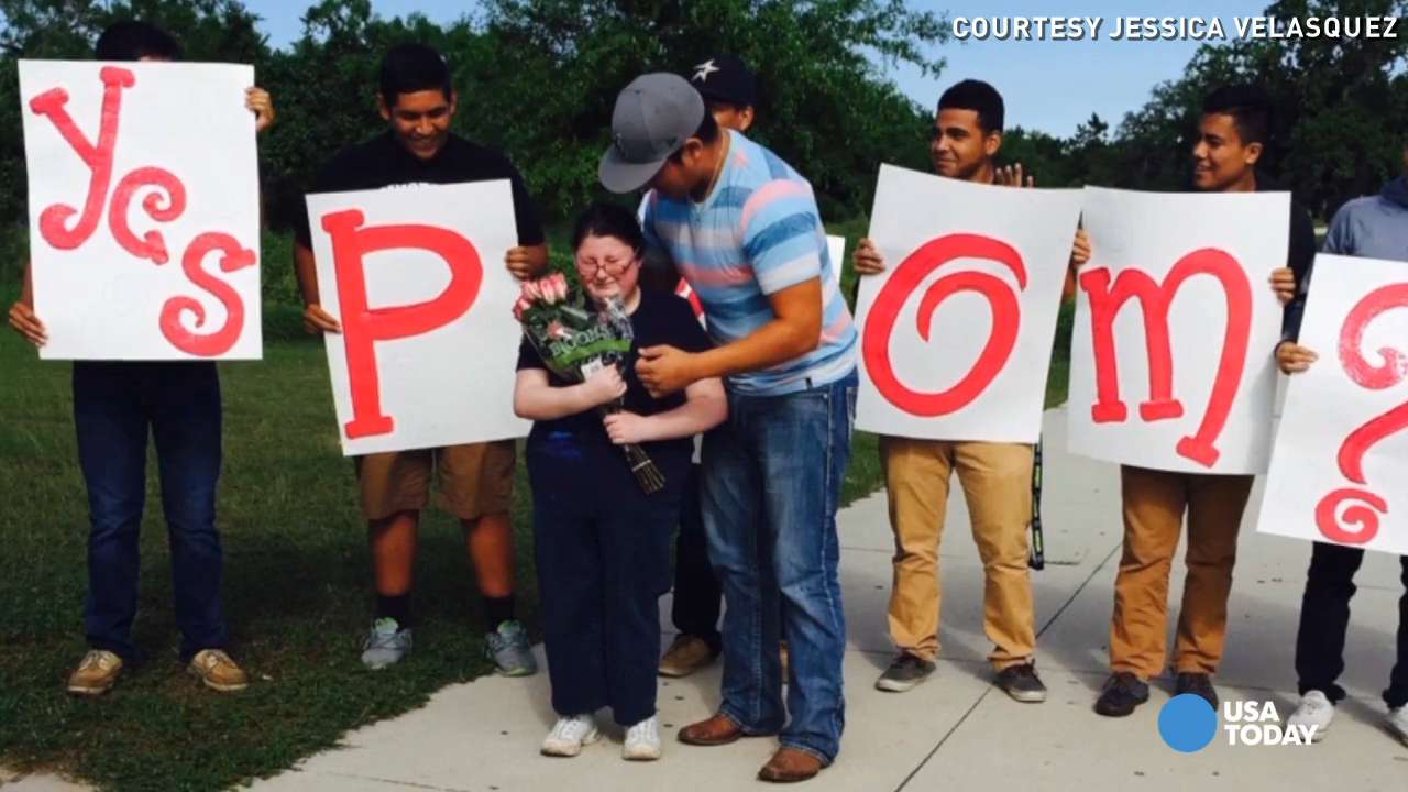 See football player's promposal for special needs girl