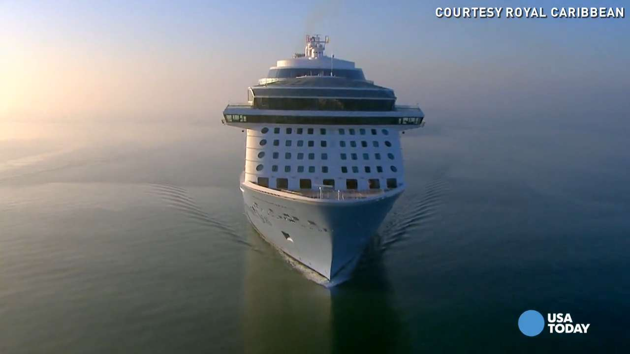 Soar above Anthem of the Seas as it sets sail