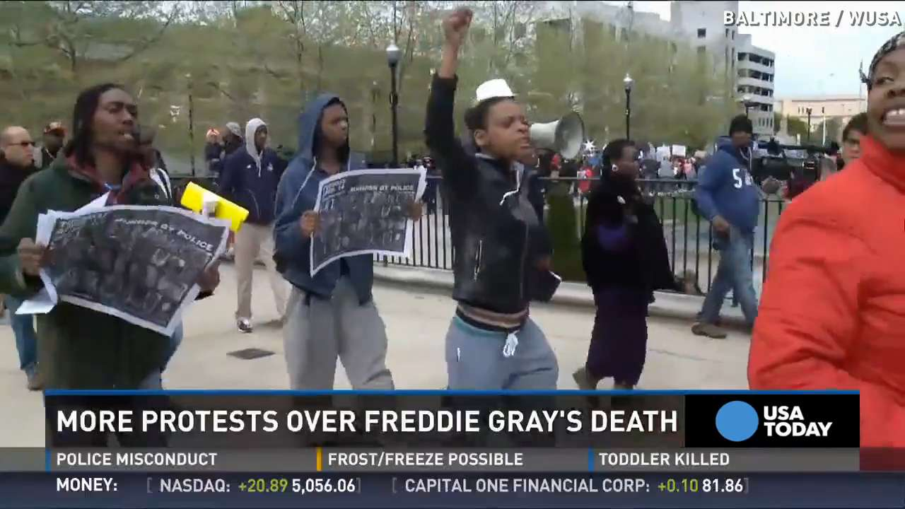 Freddie Gray protester: 'Not an event, it's a movement'