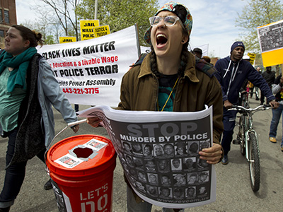 Violence erupts during freddie gray protests