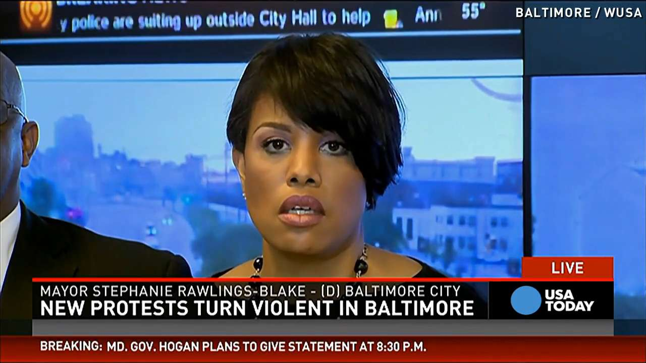 Baltimore Mayor: 'Thugs' are destroying our city