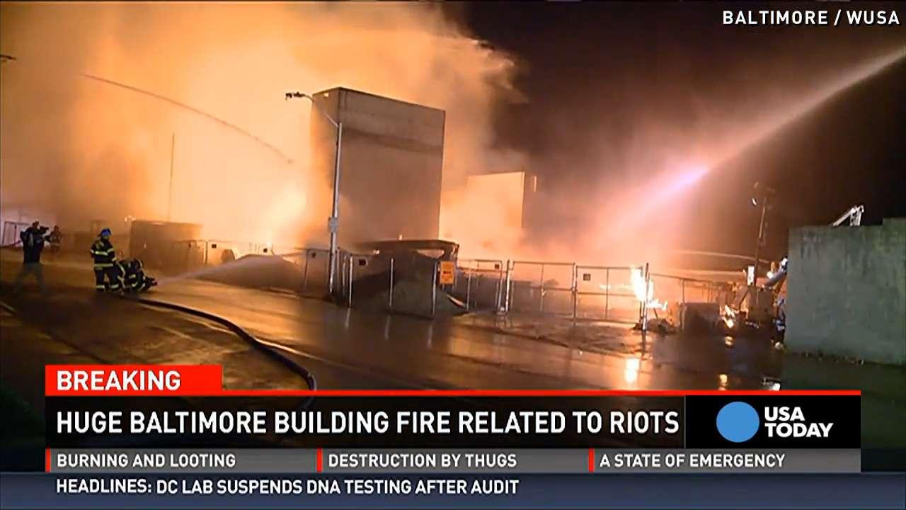 Baltimore shaken by violence, destruction