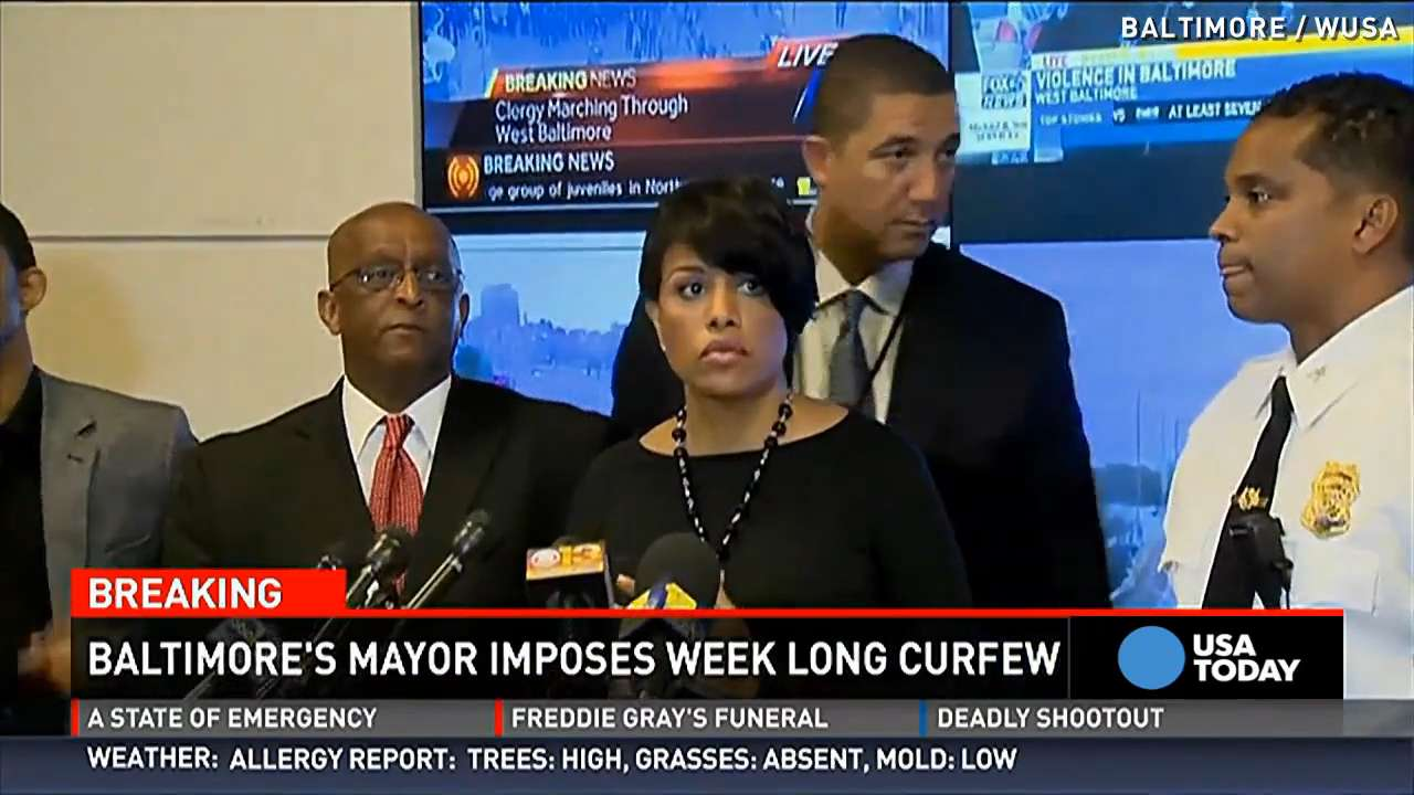 Baltimore mayor defends city's response to violence