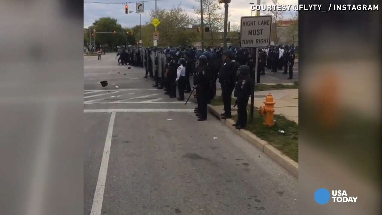 Video of Baltimore protests captured on city streets