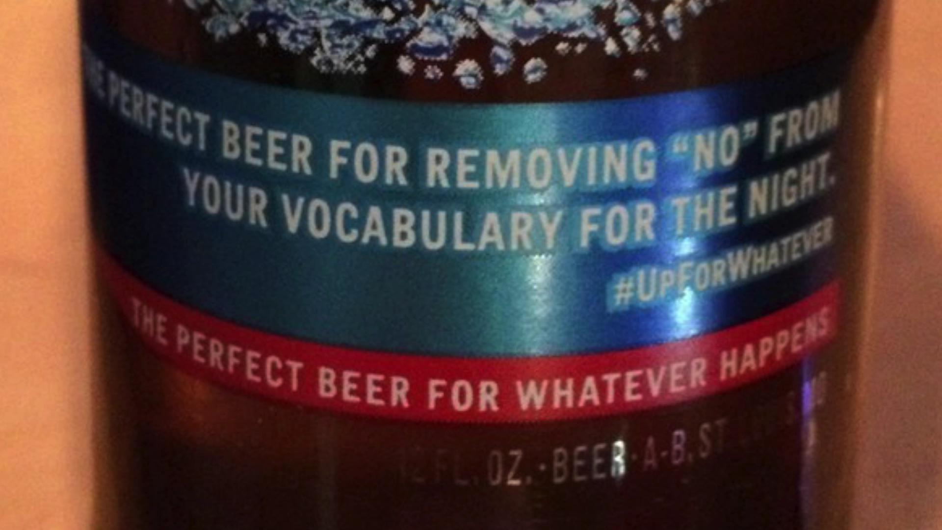 Bud light apologizes for removing no label aloadofball Gallery