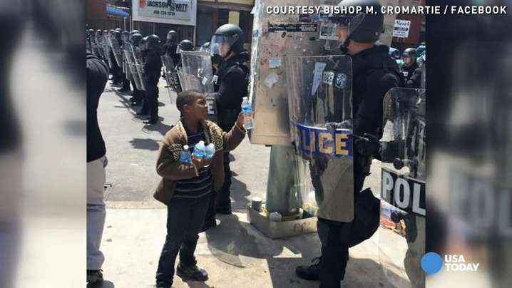 Heartwarming scenes from the streets of Baltimore