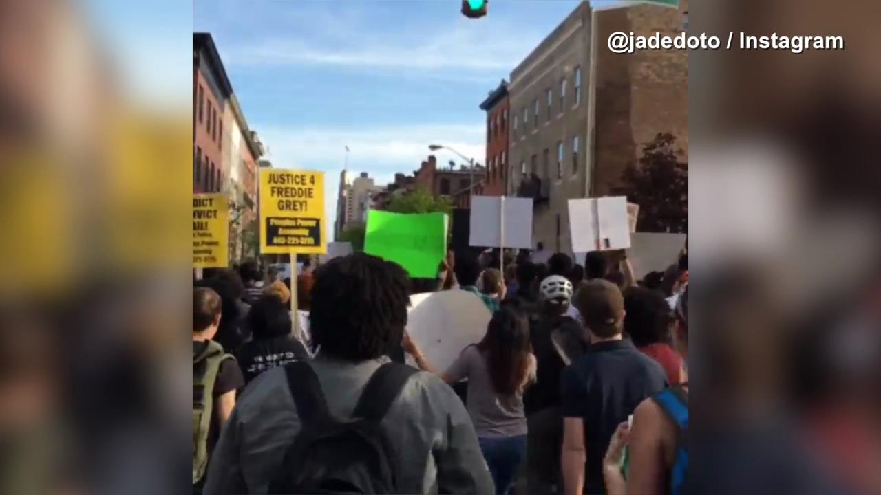 Raw video: Freddie Gray protest in Baltimore