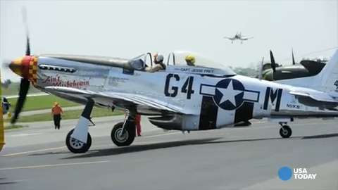 WWII planes take to the skies for V-E Day spectacular