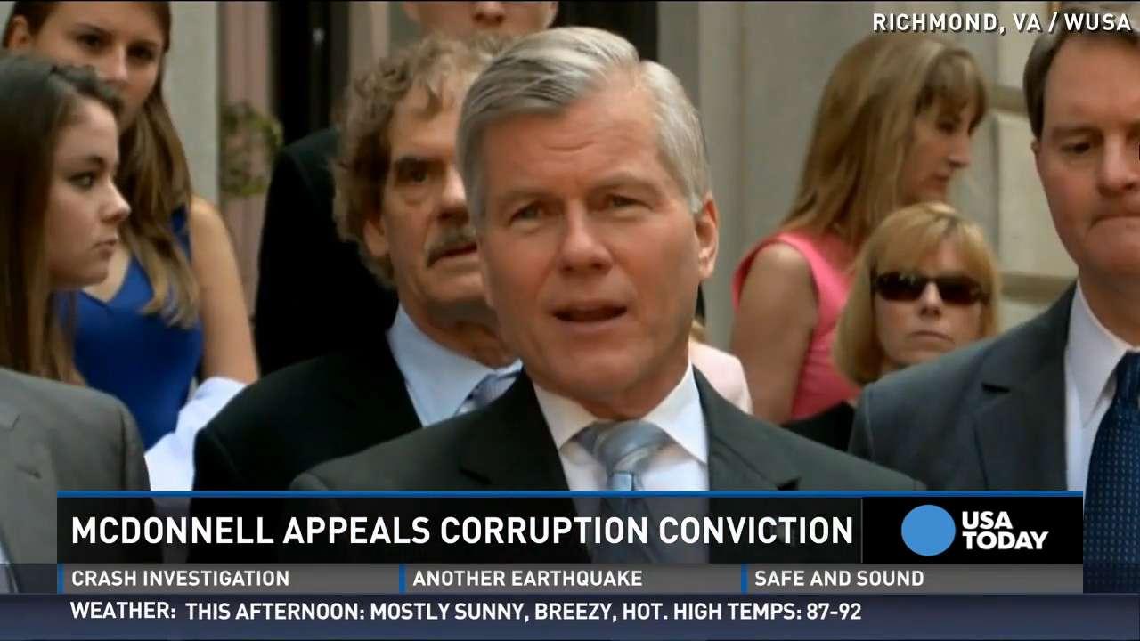 Former Va. Gov. McDonnell appeals corruption conviction