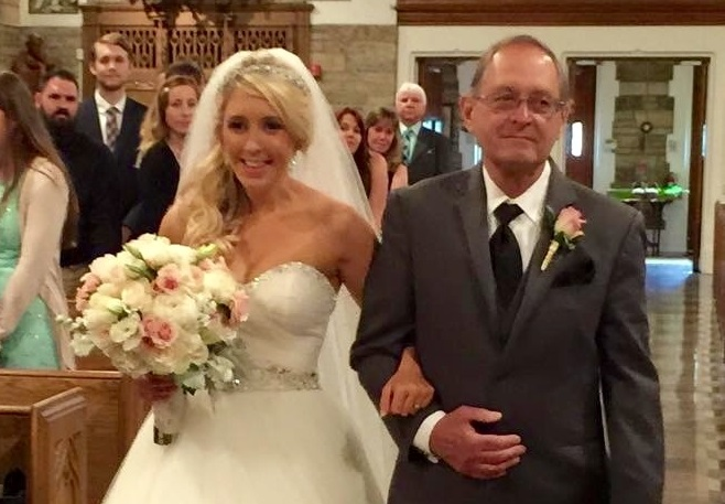 Dad fulfills 19-year-old pact at daughter's wedding