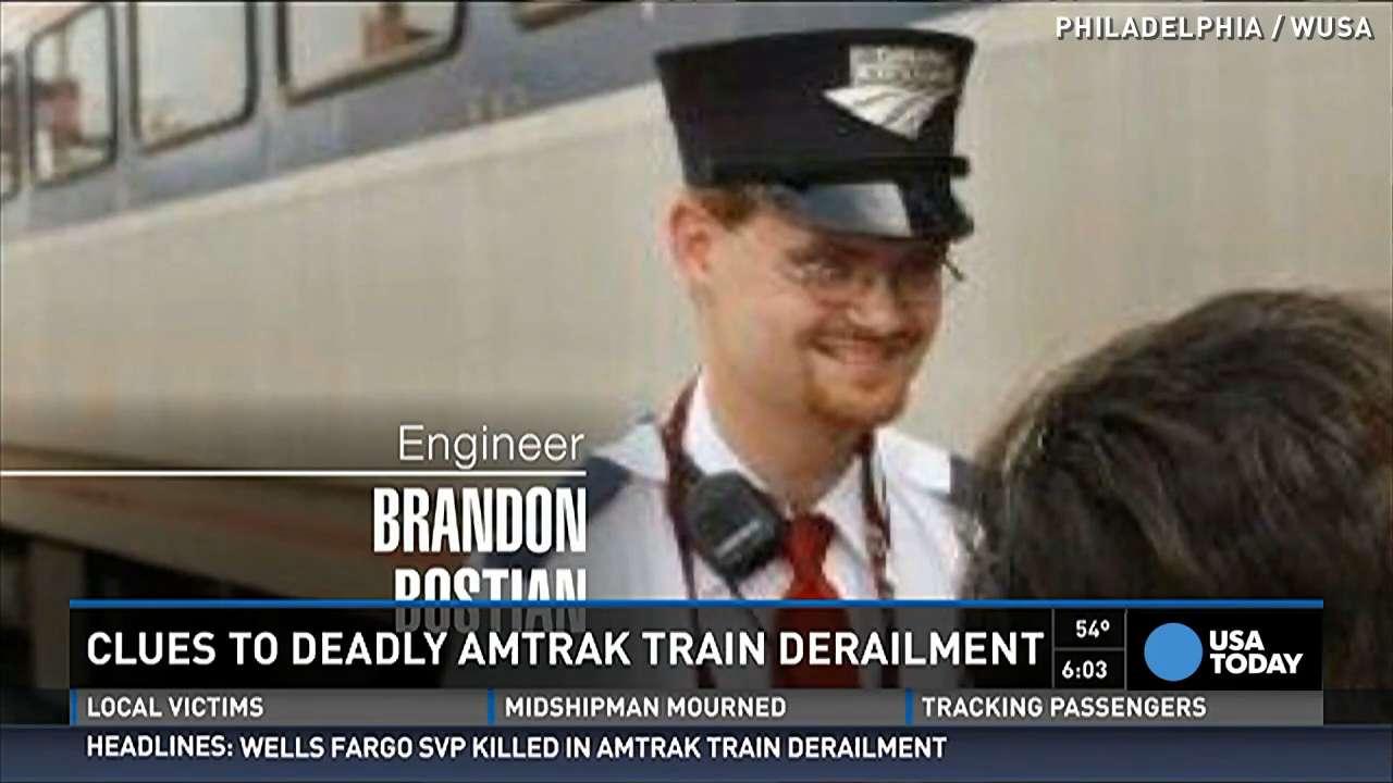 Amtrak train engineer traveling 106 mph named