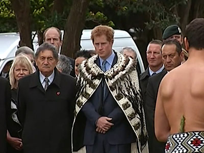 Raw: Prince Harry visits indigenous Maori people