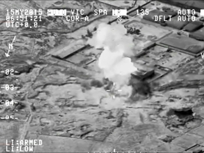 Raw: Airstrikes against ISIS in Ramadi