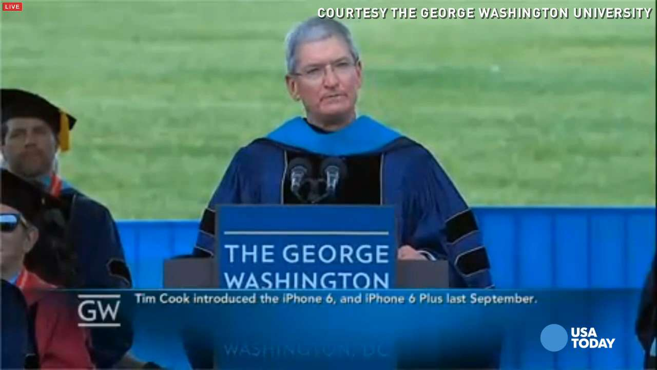 Apple's Tim Cook tells grads to ignore critics