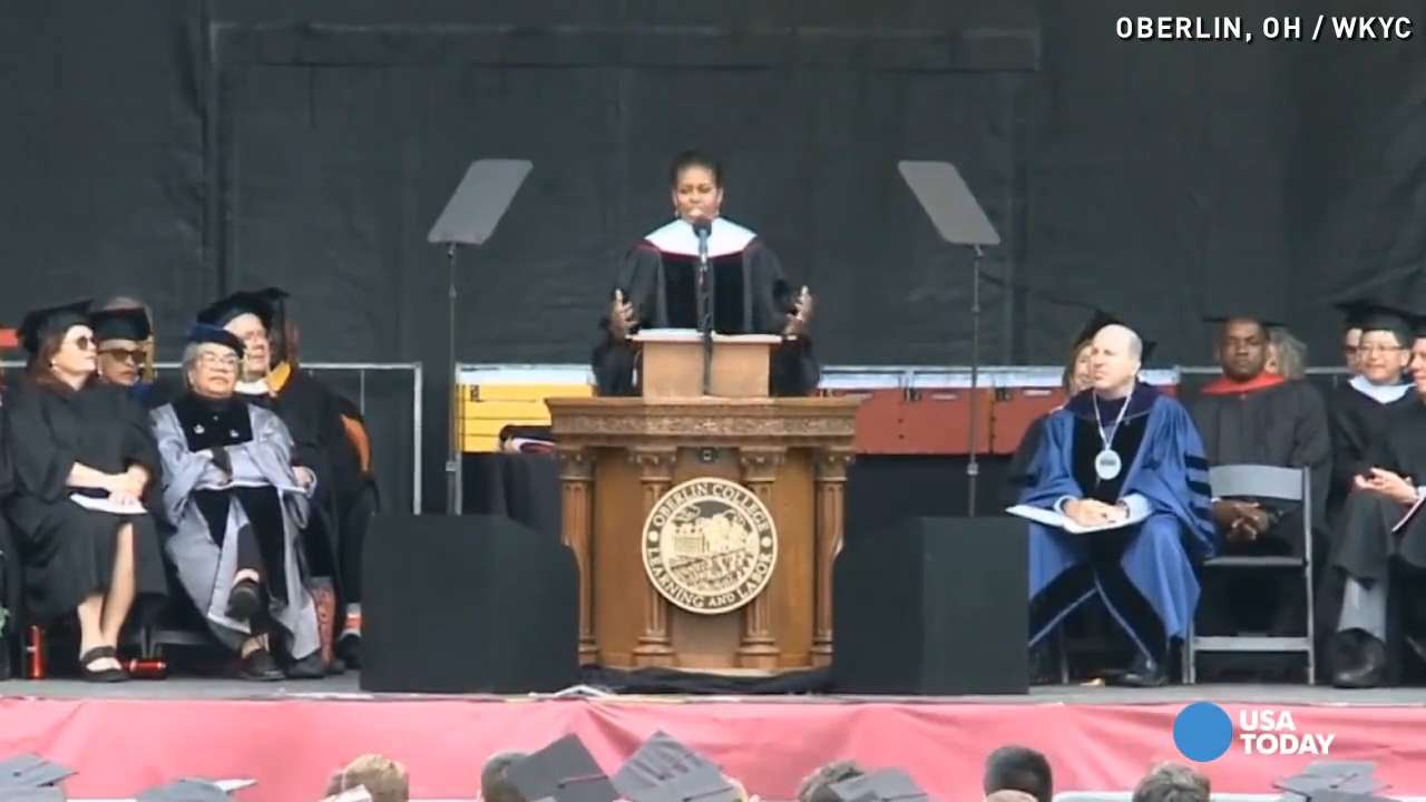 Michelle Obama to grads: 'Do the hard work' to change laws