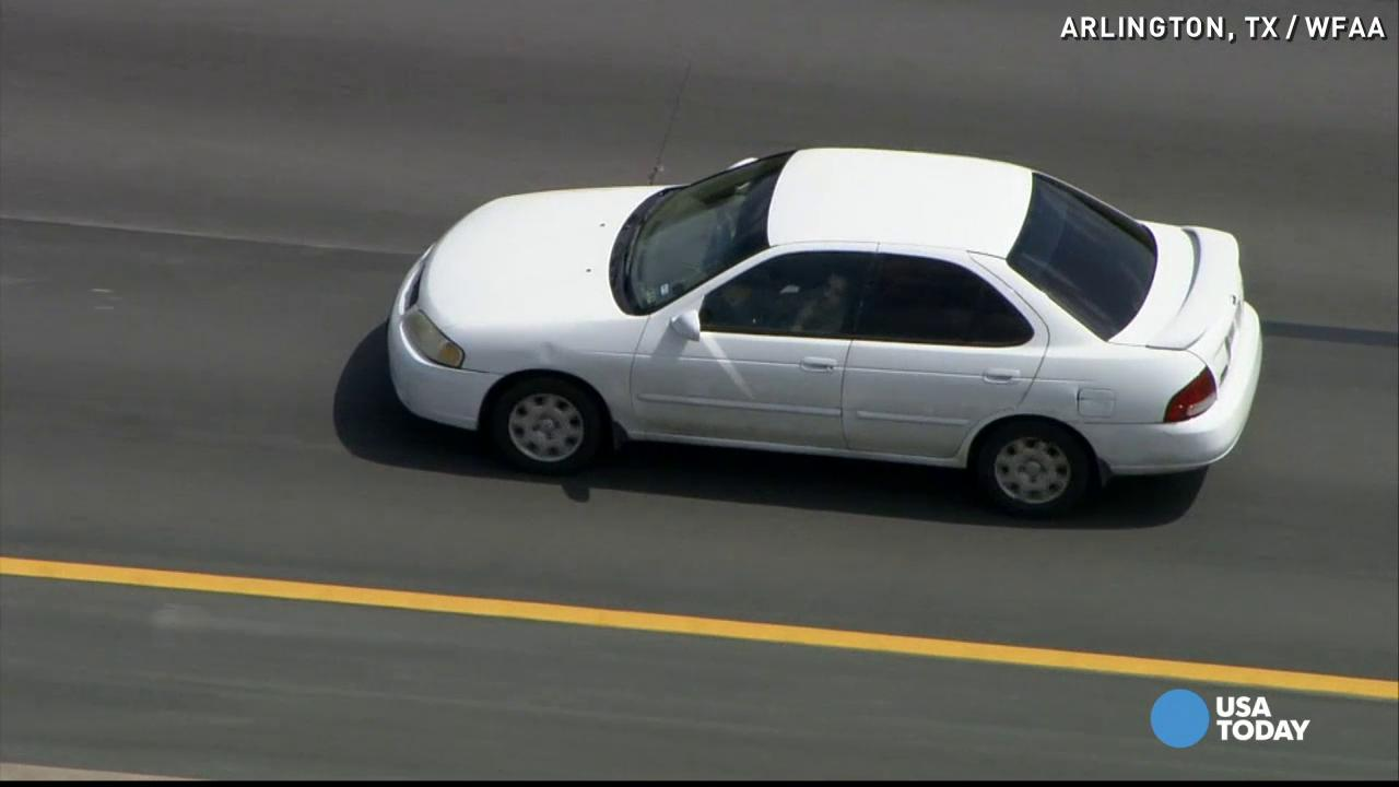 Man leads police on odd, slow-speed chase