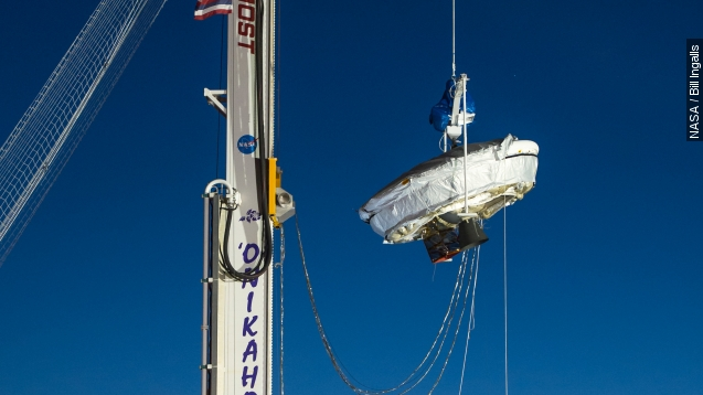 NASA tests 'Flying Saucer' to deliver probes to Mars