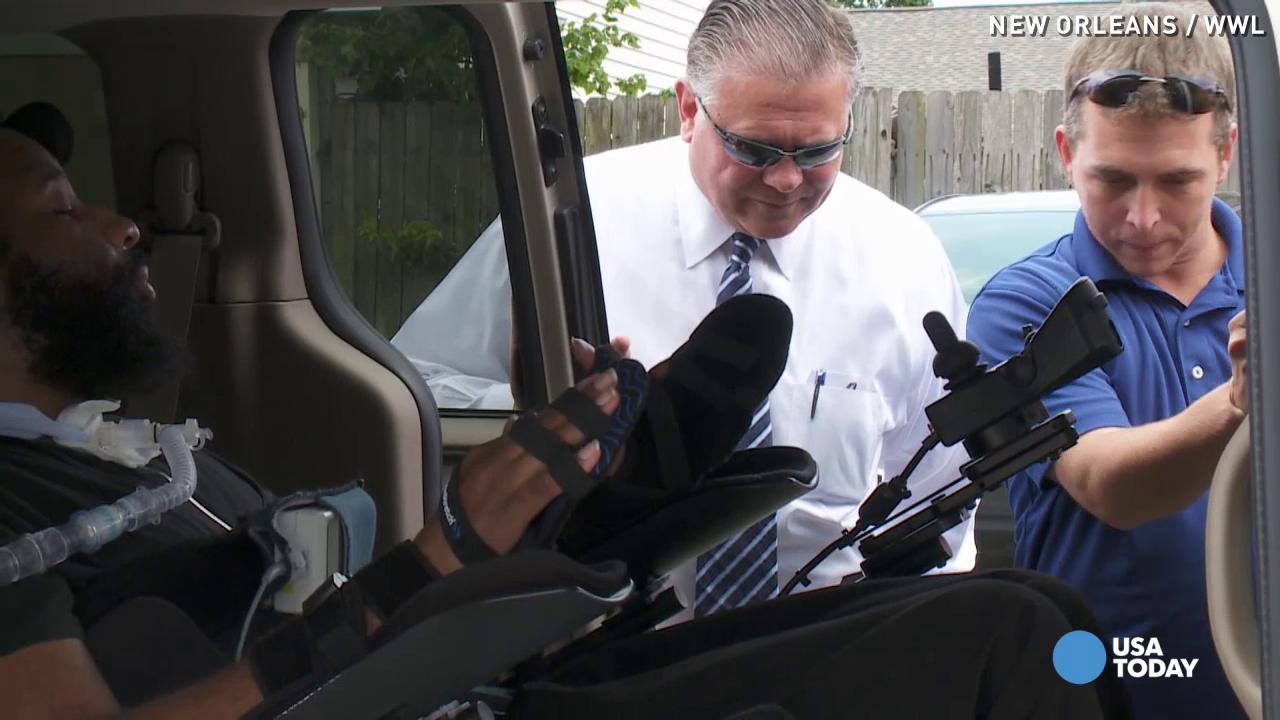 Heartwarming generosity shown to cop paralyzed on duty
