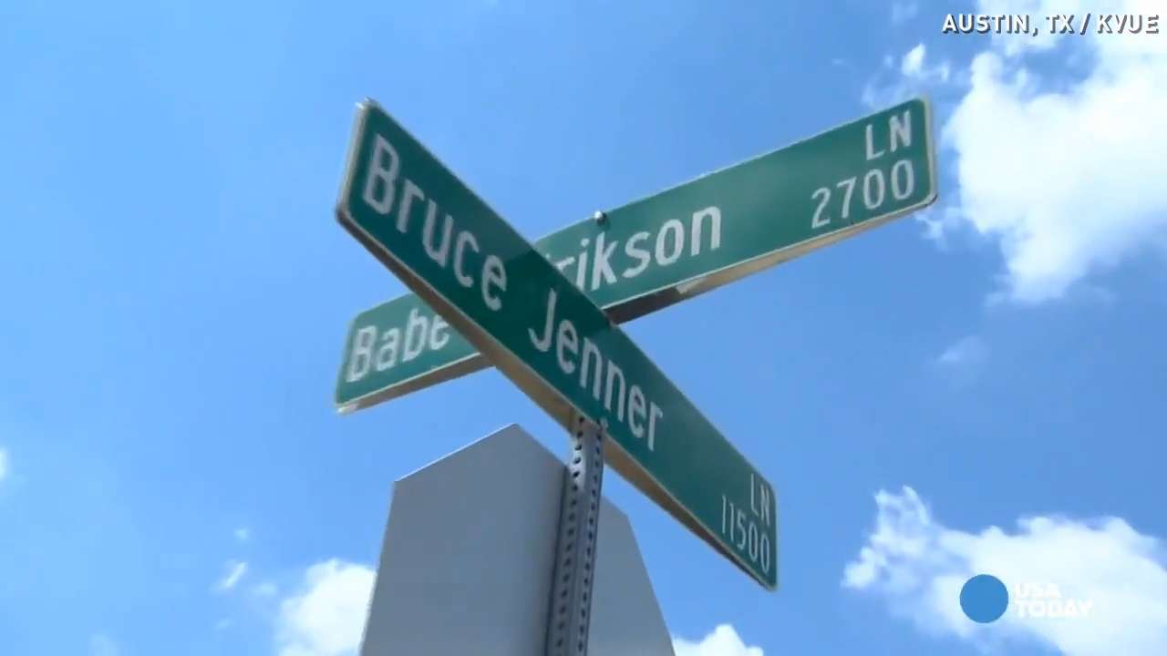 What to do with a 'Bruce Jenner' street sign?