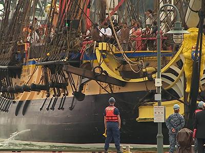 Raw: Replica tall ship ship arrives in U.S.