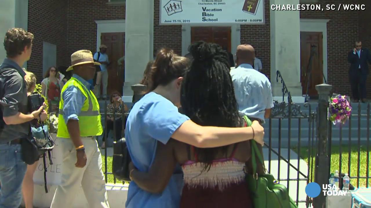A 'heartbroken' Charleston gathers to mourn shooting victims