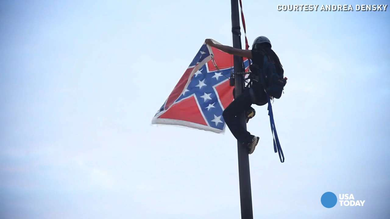 Watch activist remove Confederate flag at S.C. Capitol