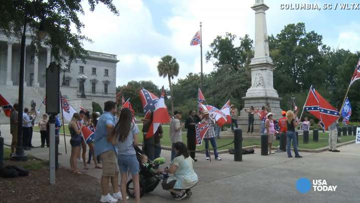 Pro-Confederate flag rally held at S.C. Statehouse