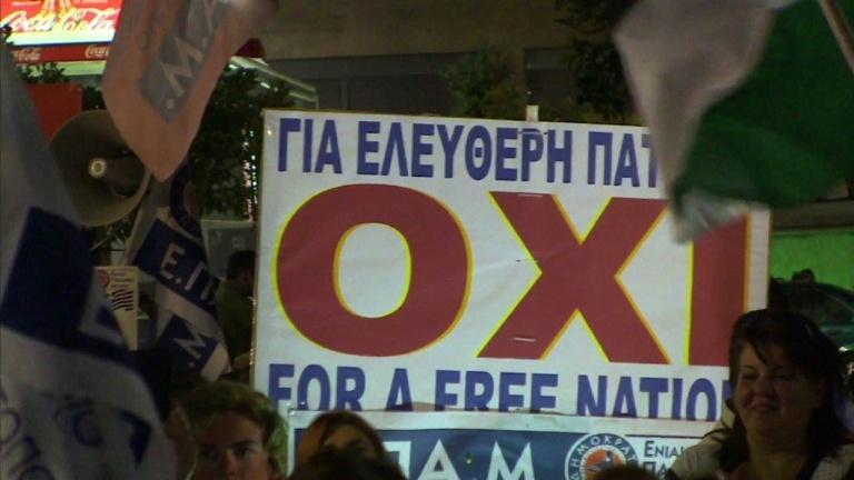 Scenes of joy as Greece's 'no' voters celebrate victory
