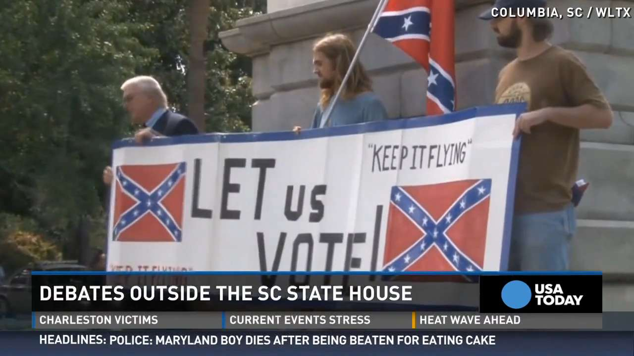Confederate flag debate rages on in South Carolina