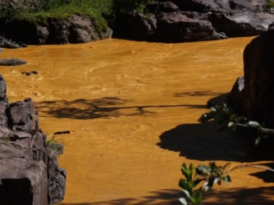 Orange Muck From CO Mine Spill Heads Downriver