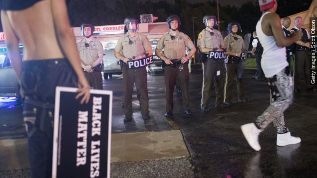 Police shooting injures one at Ferguson anniversary protests