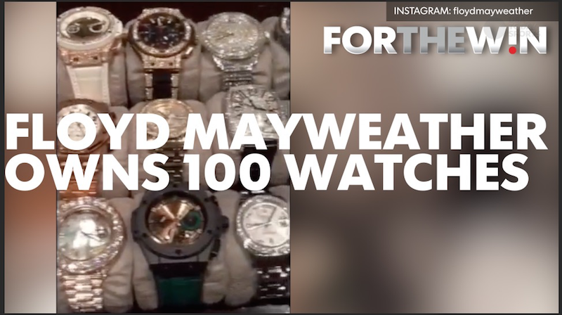 wears and guy million expensive watches but once on collection of two floyd with mayweather jets normally know cars is he how you well private diamond jewellery spent gold a