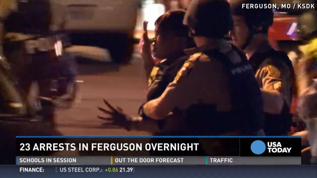 Ferguson protests continue, 23 arrested