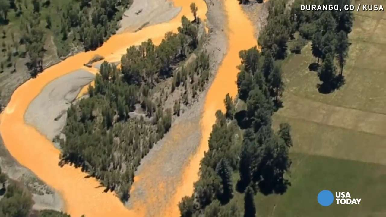 Toxic sludge settling at the bottom of Colorado river